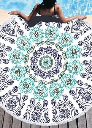 Пляжный коврик полотенце плед покрывало 1432
