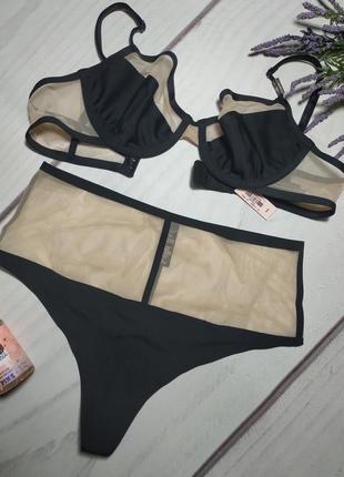 Комплект белья victoria's secret luxe lingerie ( бюстгалтер + трусики)