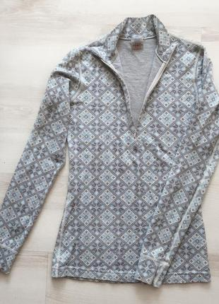 Шикарная спортивная термо кофта реглан 100%  лыжная кофта /kari traa / merino wool
