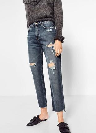Стильные мом джинсы zara ieans mom fit zara