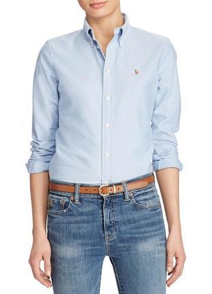 Женская рубашка polo ralph lauren harper washed oxford custom fit