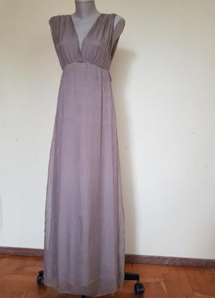 Шикарное итальянское платье шелк