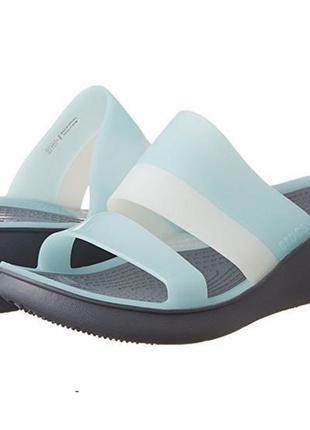 Crocs colorblock wedge - оригинал - w10 (на узкую ногу)
