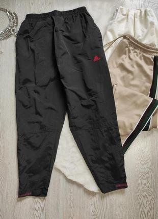 Черные спортивные штаны высокая талия посадка кроп с подкладкой мужские унисекс короткие