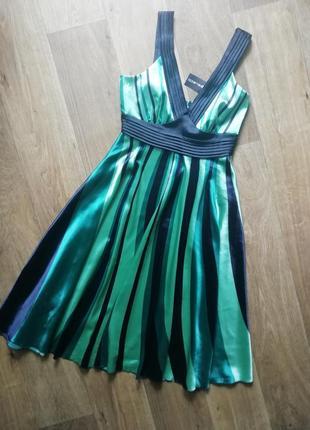 Атласный сарафан на брителях, сукня, плаття, платье