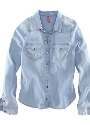 Джинсовая рубашка н&м