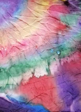 Шёлковый платок ручная роспись, шов роуль.