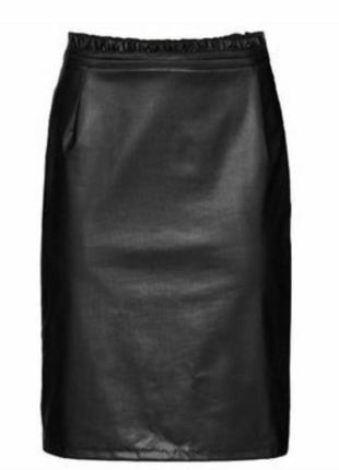 Кожаная юбка миди esmara p.m