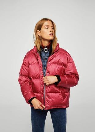 Mango куртка - пуховик оверсайз м- l размер . новая с бирками курточка . стильная ,