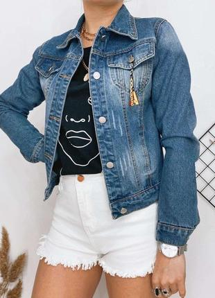 Куртка женская джинс
