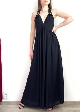 Красивое шифоновое платье с открой спинкой