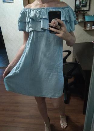 Платье летнее лёгкое ткань качество бомба на плечи m l