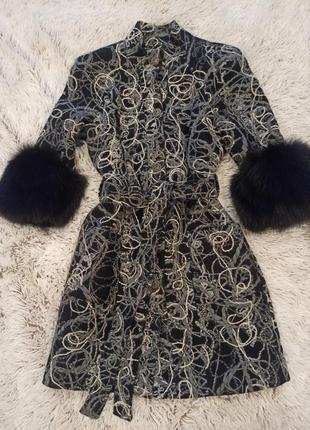 Пальто balizza с натуральным мехом