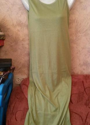 Трикотажное платье - майка