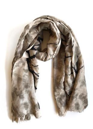 Шарф becksondergaard платок шерстяной шелковый