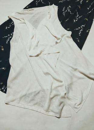 Накидка пончо кардиган жилет белая