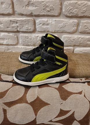 Кроссовки, хайтопы, ботинки puma (ориг). размер 25 (ст. 16-16.2 см).