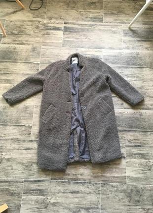 Плюшевая шуба пальто