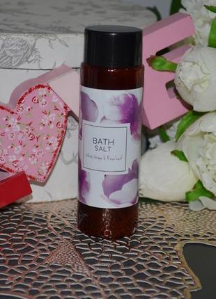 Соль для ванны белый виноград и роза bath salt white grape & rose leaf