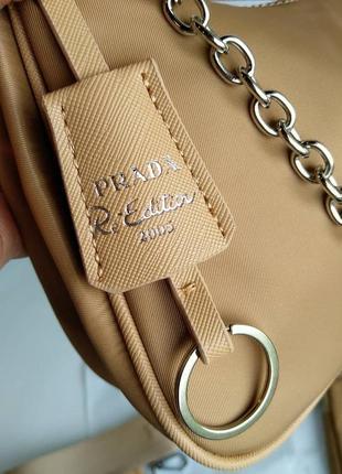 Женская сумка из текстиля 2 в 1 бежевая6 фото