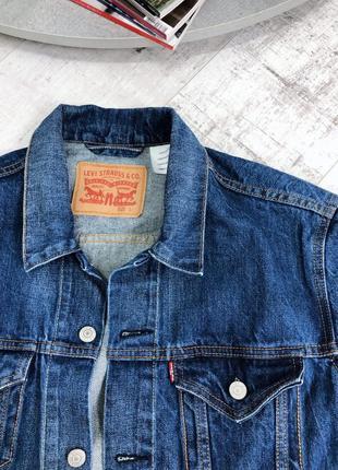 Джинсовка оверсайз винтаж levis в винтажном стиле джинсовая куртка пиджак7 фото