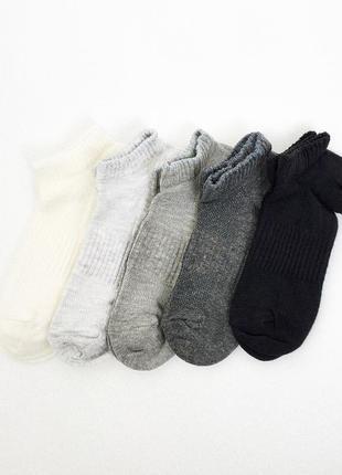 31-33, 34-36, 37-39 5 пар короткие носки на лето c&a