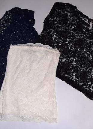 Кружевные футболочки недорго  tally weijl