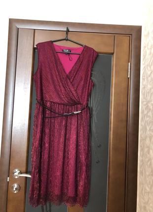 Мега красивое металлизированное платье бренда billie&blossom. новое.