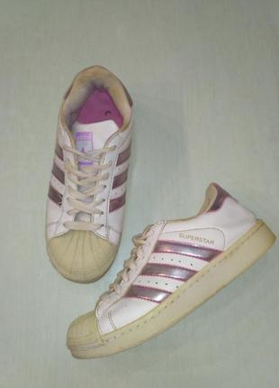 Adidas superstar! белые кроссовки