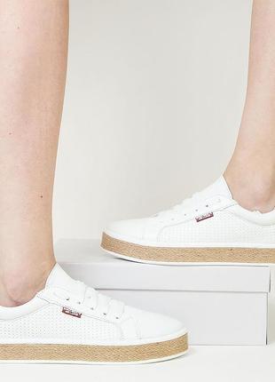 Белые кеды натуральная кожа р36-40 мокасины кроссовки білі кеди кросівки шкіра