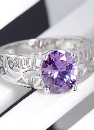 Кольцо с камнями / кольцо з каменями (цирконій)