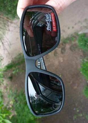 Крутые спортивные очки унисекс polarized 3 категория защиты из 4 матовая оправа