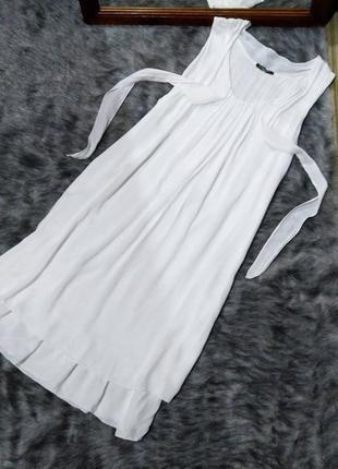 Двухслойное платье свободного кроя из натуральной вискозы италия