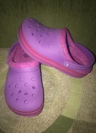 Утеплённые кроксы crocs оригинал с12-13
