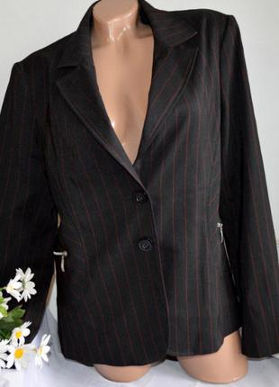 Брендовый черный пиджак жакет блейзер с карманами в полоску river island болгария