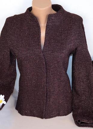 Брендовый пиджак жакет блейзер caractere италия вискоза шерсть люрекс этикетка