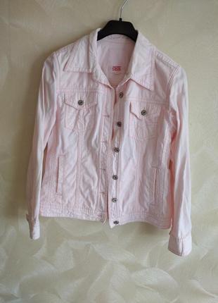Пиджак жакет коттоновый розовый cecil