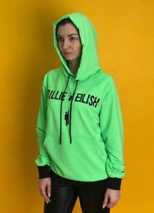 Худи 7sins - billie eilish, green