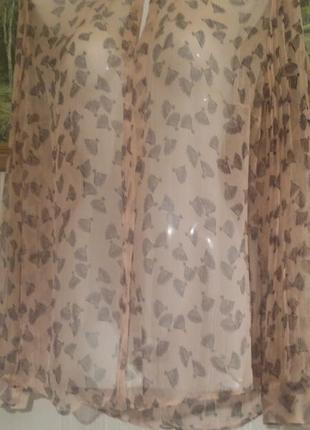 Легкая нежная блуза monsoon, 100% шелк;  uk 16