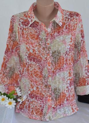 Брендовая блуза damart коттон бисер