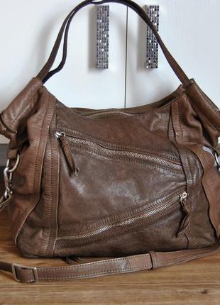 Кожаная сумка мешок кроссбоди шоппер / шкіряна сумка
