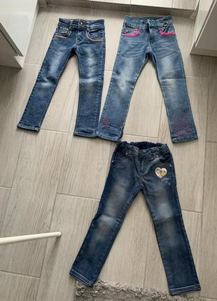 Красивые джинсы штаны брюки натуральные котон в отличном состоянии