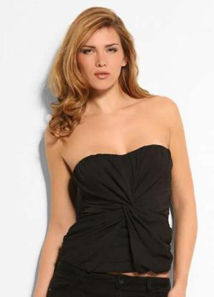 Топ*блуза черная от guess (размер 42)