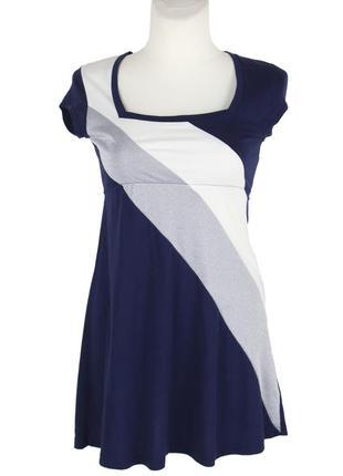 Комбинированное платье с завышенной талией