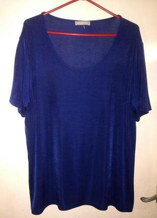 Трикотажная,супер-стрейч,футболка-блузка,большого 20-30 размера,daxon,франция
