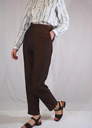 Винтажные брюки с высокой посадкой (ретро, винтаж)