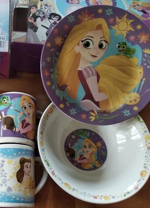 Детский набор посуды рапунцель