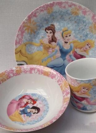Детский набор посуды принцессы