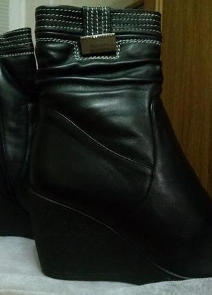 Ботинки на танкетке из натуральной кожи andri-anna (р. 39)