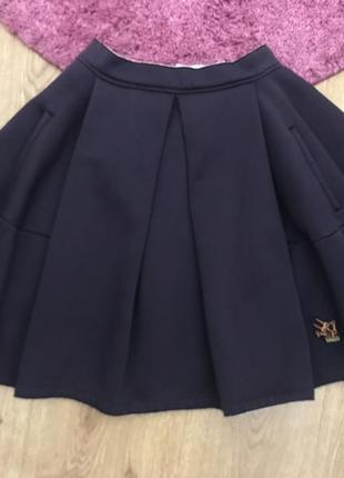 Шикарная новая юбка kenzo оригинал! на завышенной талии